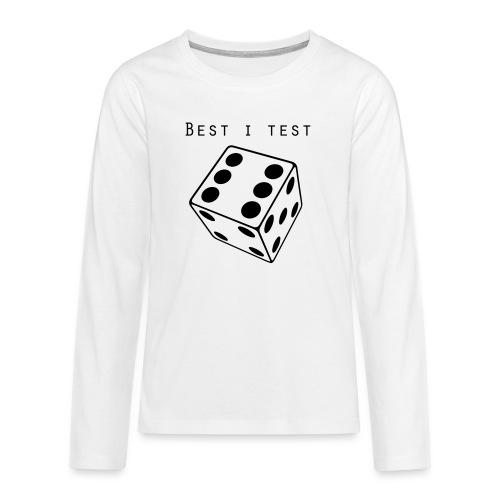 Best i test - Premium langermet T-skjorte for tenåringer