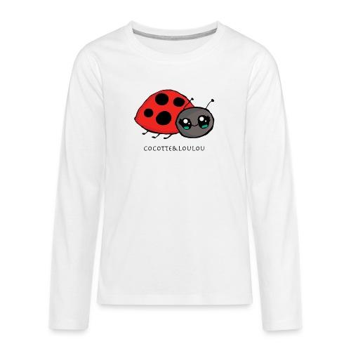 Pirouette la coccinelle - T-shirt manches longues Premium Ado