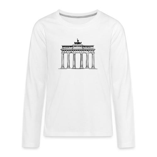 Brandenburger Tor Berlin Victoria Streitwagen - Teenager Premium Langarmshirt