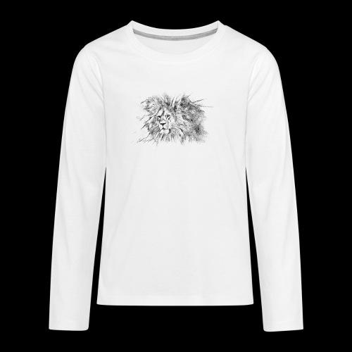Le roi le seigneur des animaux sauvages - T-shirt manches longues Premium Ado