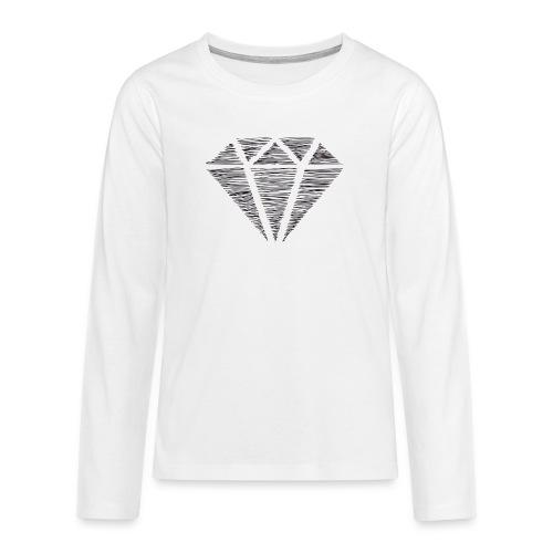 Diamante - Camiseta de manga larga premium adolescente