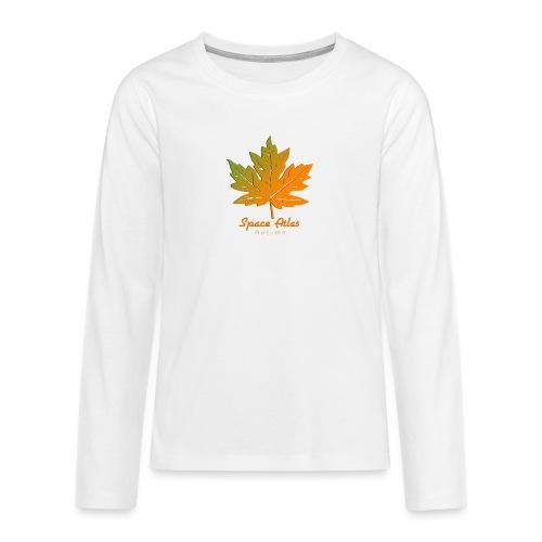 Space Atlas Long Sleeve T-shirt Autumn Leaves - Teenager premium T-shirt med lange ærmer