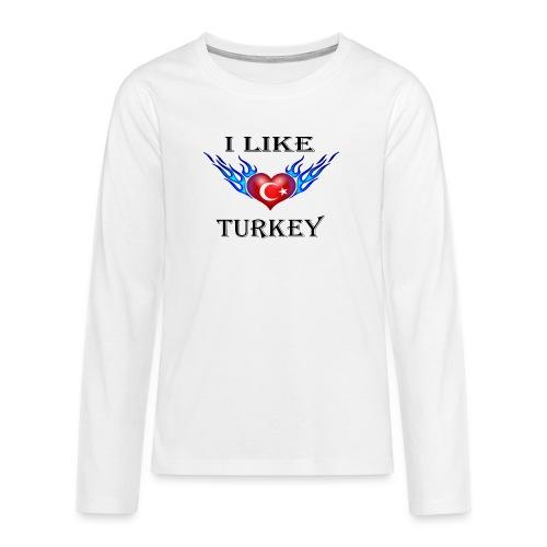 I Like Turkey - Teenager Premium Langarmshirt