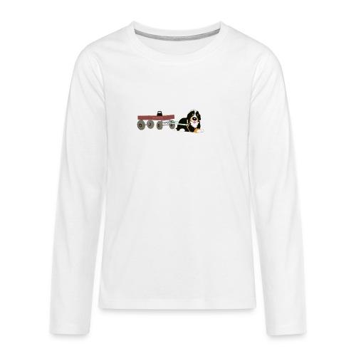 bernerdrag hona - Långärmad premium T-shirt tonåring