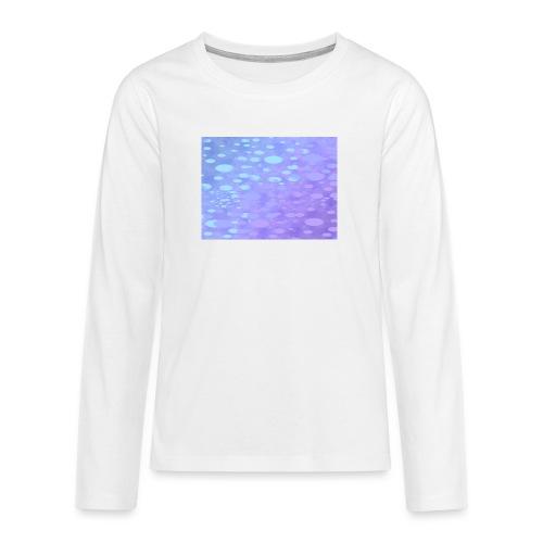 wassertropfen in der regenbogenpfütze - Teenager Premium Langarmshirt