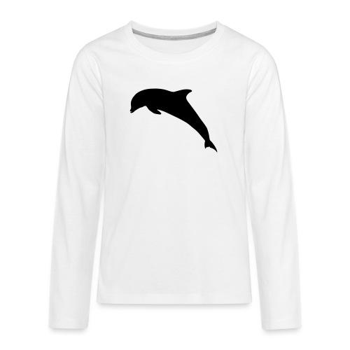 Delfin springend - Teenager Premium Langarmshirt
