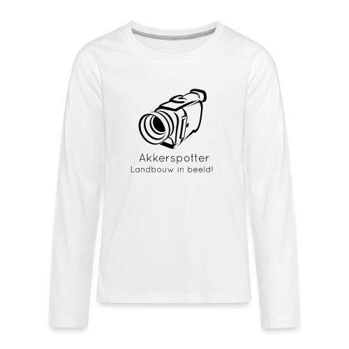 Logo akkerspotter - Teenager Premium shirt met lange mouwen