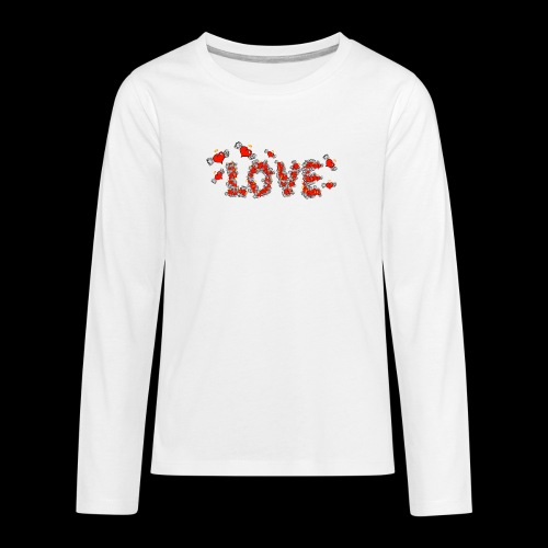 Flying Hearts LOVE - Teenagers' Premium Longsleeve Shirt