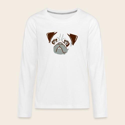 otiz mops kopf 2farbig - Teenager Premium Langarmshirt