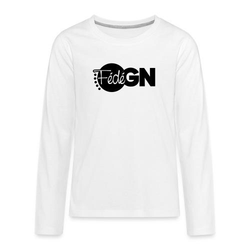 Logo FédéGN pantone - T-shirt manches longues Premium Ado