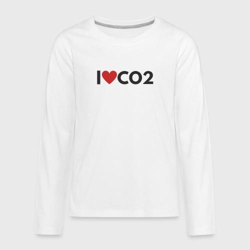I LOVE CO2 - Teinien premium pitkähihainen t-paita