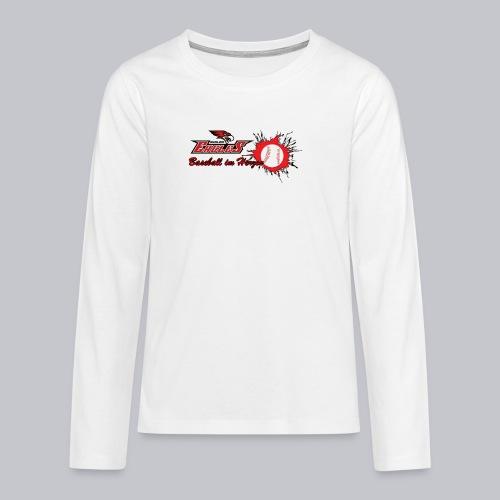 Baseball im Herzen - Teenager Premium Langarmshirt