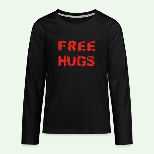 Free Hugs // Flirten // T-Shirt - Teenager Premium Langarmshirt