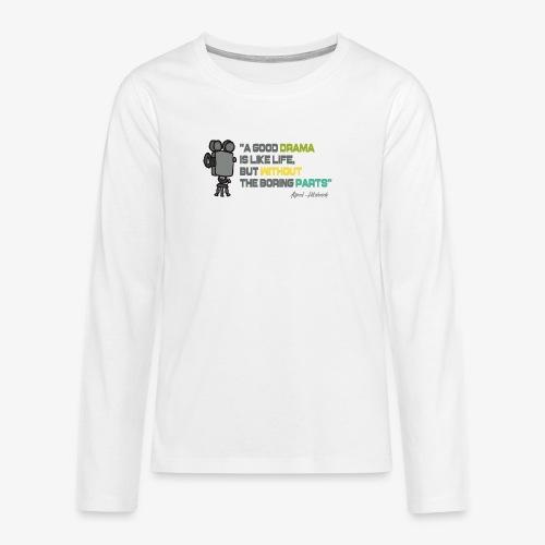Pasión por el cine - Camiseta de manga larga premium adolescente