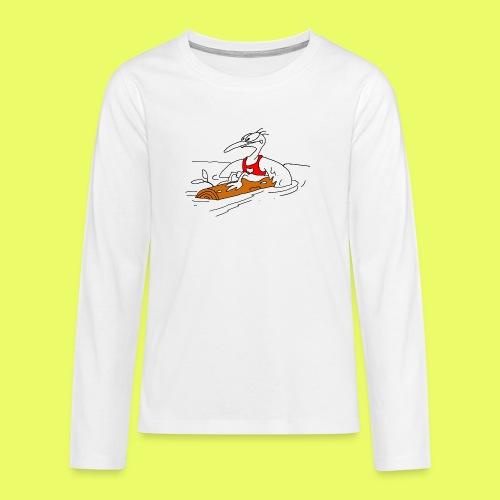PaddelVogel - Teenager Premium Langarmshirt