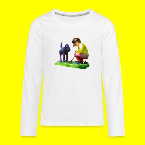 Mannetje Poep vrijstaand - Teenager Premium shirt met lange mouwen