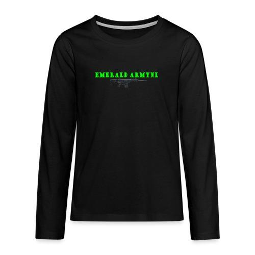 EMERALDARMYNL LETTERS! - Teenager Premium shirt met lange mouwen
