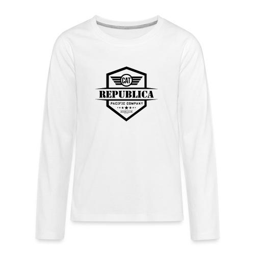 REPUBLICA CATALANA ELEGANT - Camiseta de manga larga premium adolescente