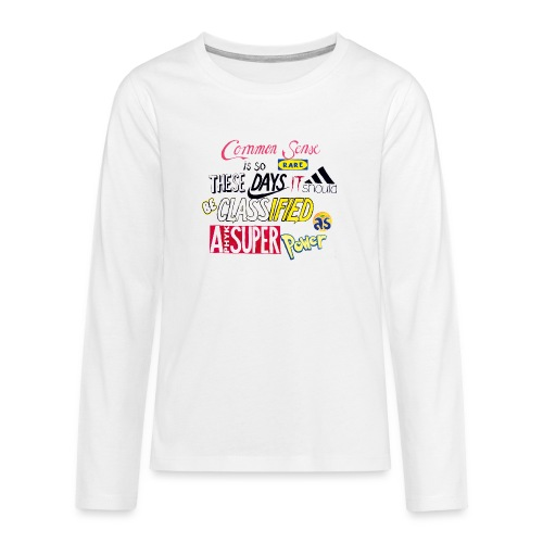 PHYK-logoja - Teinien premium pitkähihainen t-paita