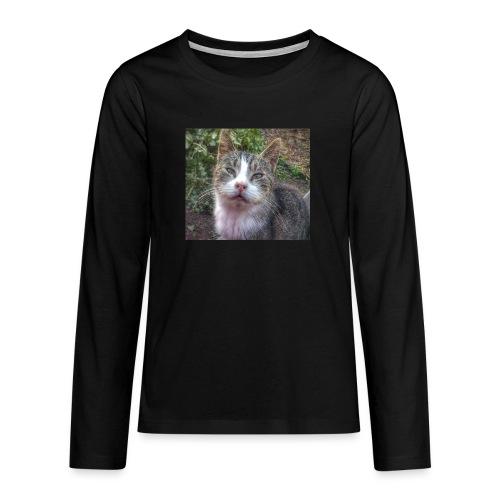Katze Max - Teenager Premium Langarmshirt