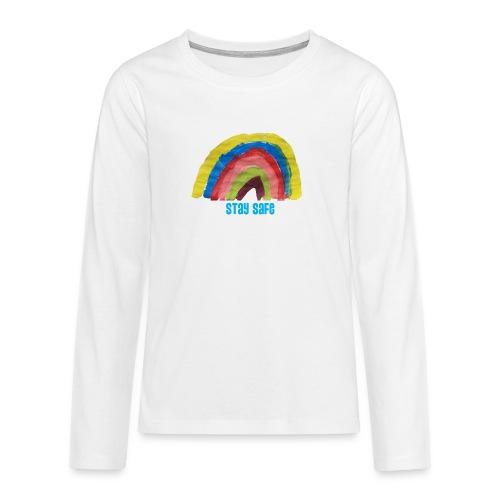 Stay Safe Rainbow Tshirt - Teenagers' Premium Longsleeve Shirt