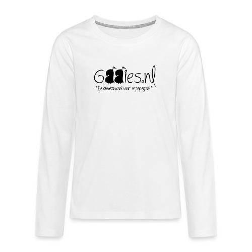 gaaies - Teenager Premium shirt met lange mouwen