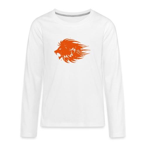 MWB Print Lion Orange - Teenagers' Premium Longsleeve Shirt