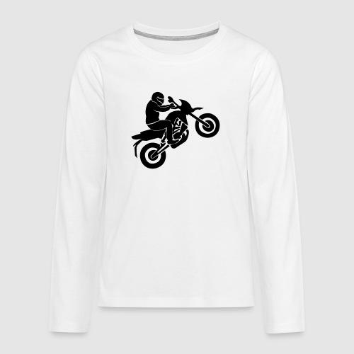 Motorradfahrer - Teenager Premium Langarmshirt