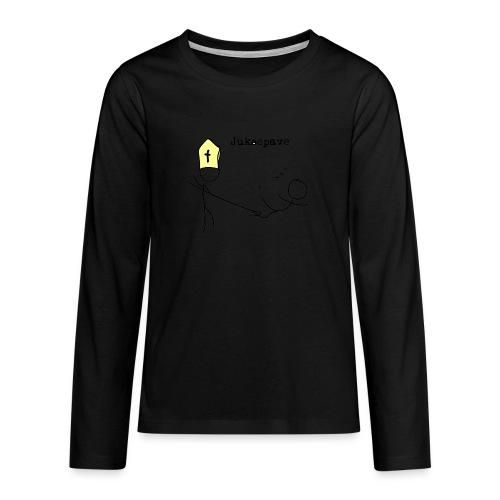juksepave png - Premium langermet T-skjorte for tenåringer