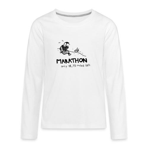 marathon-png - Koszulka Premium z długim rękawem dla nastolatków