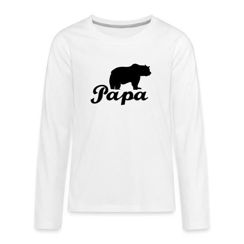 papa beer - Teenager Premium shirt met lange mouwen