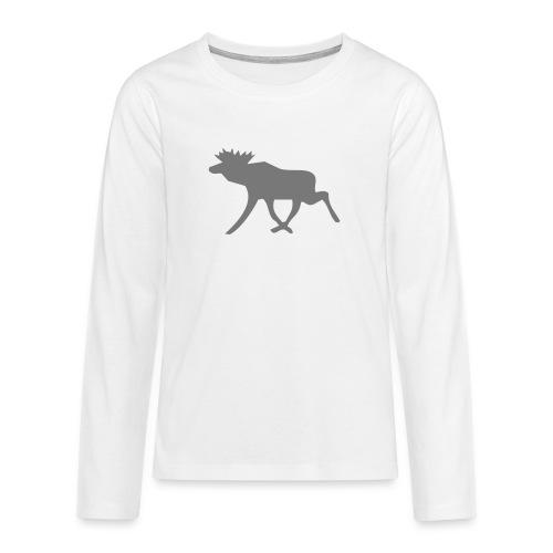 Schwedenelch; schwedisches Elch-Symbol (vektor) - Teenager Premium Langarmshirt