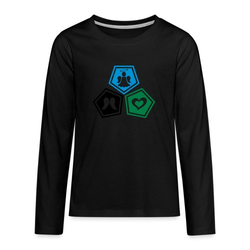 Tee shirt baseball Enfant Trio ange, ailes d'ange - Teenagers' Premium Longsleeve Shirt