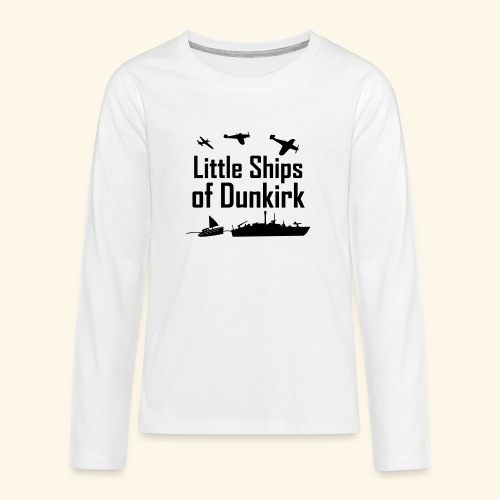 Little Ships of Dunkirk - T-shirt manches longues Premium Ado