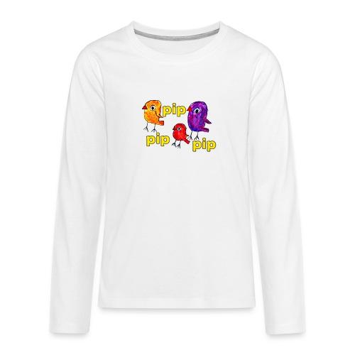 3er original pip pip pip gelb - Teenager Premium Langarmshirt