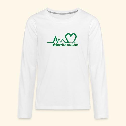 logo verde Associazione Valnerina On line - Maglietta Premium a manica lunga per teenager