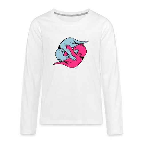 Yin and Yang Kitties - Teenagers' Premium Longsleeve Shirt