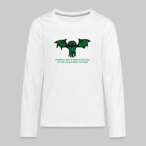 Cthulhu Wings Fhtagn - Teenager Premium Langarmshirt