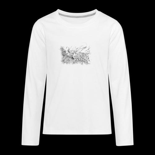 La panthère dans l'arbre - T-shirt manches longues Premium Ado