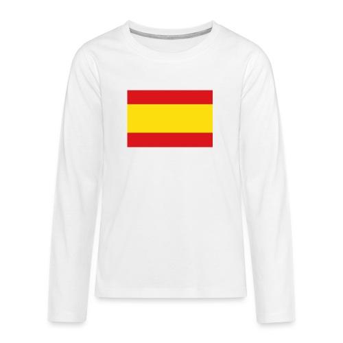 vlag van spanje - Teenager Premium shirt met lange mouwen