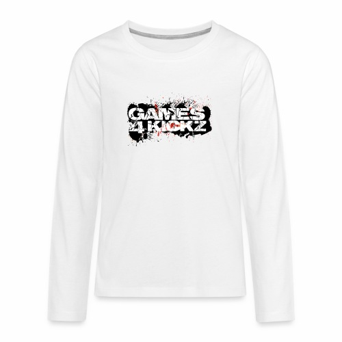 Games4Kickz Logo Splattered Background - Teenagers' Premium Longsleeve Shirt