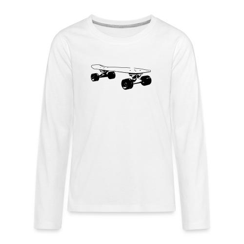 Longboard Skateboard - Teenager Premium Langarmshirt