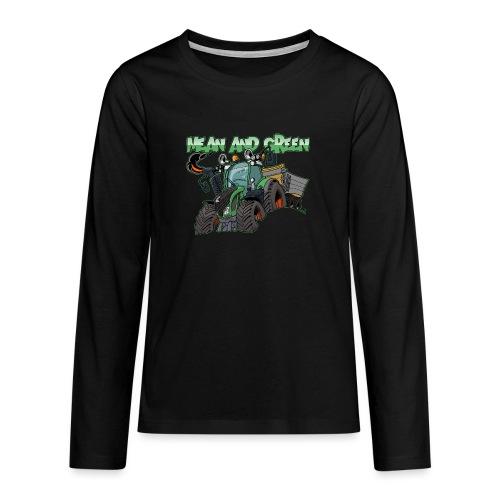 F 718Vario mean and green - Teenager Premium shirt met lange mouwen