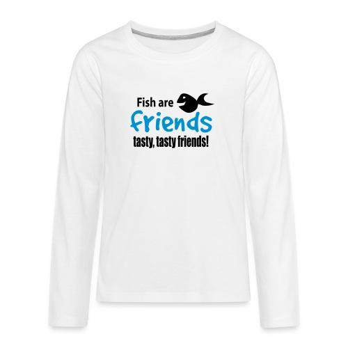 Fisk er venner - Premium langermet T-skjorte for tenåringer
