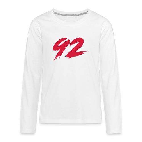 92 Logo 1 - Teenager Premium Langarmshirt
