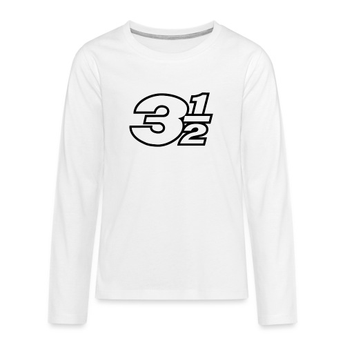 Three and a Half Logo - Teenagers' Premium Longsleeve Shirt