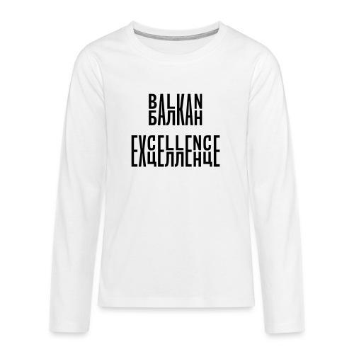 Balkan Excellence vert. - Teenagers' Premium Longsleeve Shirt