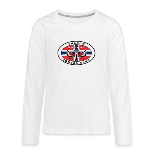 SHOC Norway Patch jpg - Premium langermet T-skjorte for tenåringer