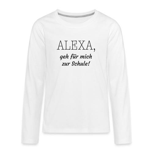 Schule - Teenager Premium Langarmshirt