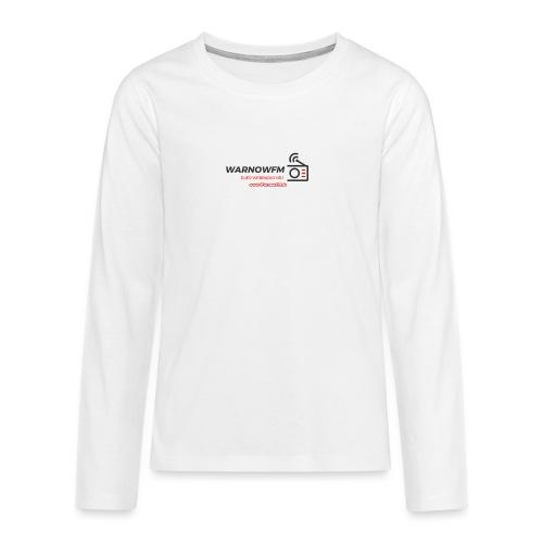 black simple radio outline - Teenager Premium Langarmshirt